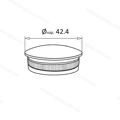 Заглушка для трубы D=42,4 мм ST-438