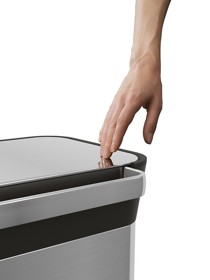 Контейнер для мусора с прессом для уплотнения Titan 30 л стальной Joseph Joseph 30030 | Купить в Москве, СПб и с доставкой по всей России | Интернет магазин www.Kitchen-Devices.ru