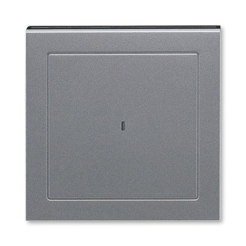 Лицевая панель карточного выключателя. Цвет Сталь / дымчатый чёрный. ABB. Levit(Левит). 2CHH590700A4069