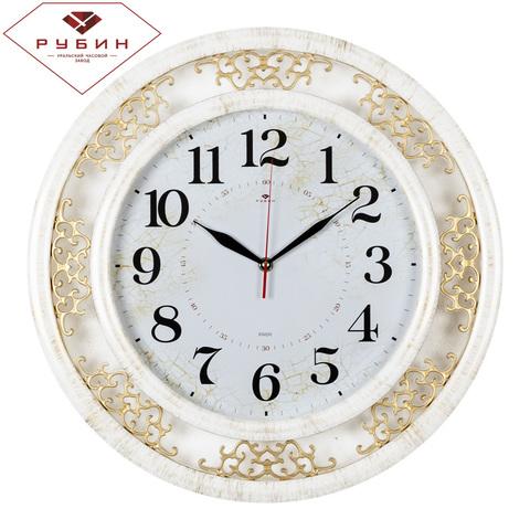 4545-004 (5) Часы настенные круг d=45 см, корпус белый с золотом