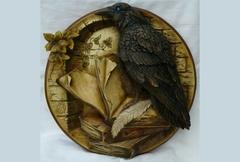 Силиконовый молд Ворон (медальон) № 0472