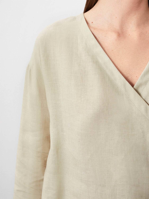Блуза-захлест Uma, Песочный