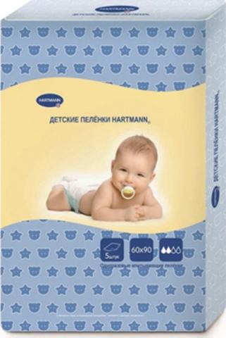 Hartmann. Детские пеленки 60х90 см, 1уп/5 шт