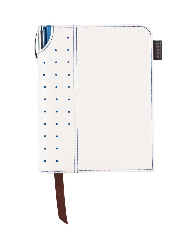 Записная книжка Cross Journal Signature A6, 250 страниц в линейку, ручка 3/4 в комплекте. Цвет - бел