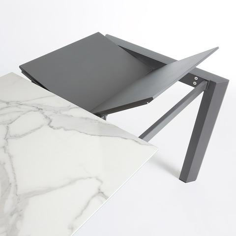 Стол Atta 140 (200) x90 антрацит, керамика