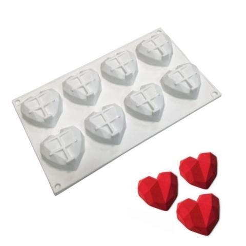 Форма для муссовых десертов и выпечки «Сердце. Геометрия»