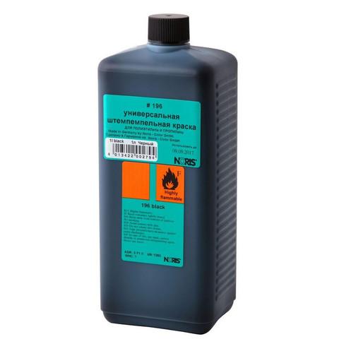 Краска штемпельная Noris 196E черная на водной основе с содержанием спирта 1000 г