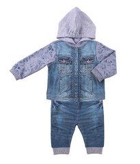 Папитто. Комплект кофточка с капюшоном и штанишки для девочки FASHION JEANS вид 1