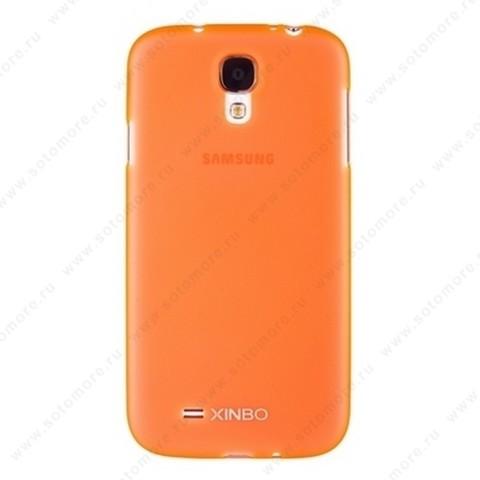 Накладка XINBO пластиковая для Samsung Galaxy S4 i9500/ i9505 оранжевая
