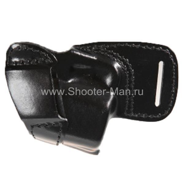Кобура кожаная за спину для пистолета Оса ПБ-4-1м/ПБ-4-1мл ( модель № 10 ) Стич Профи