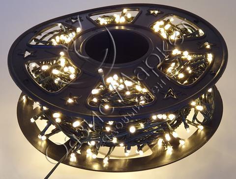 Светодиодная гирлянда уличная нить 48м 600LED тепл/бел