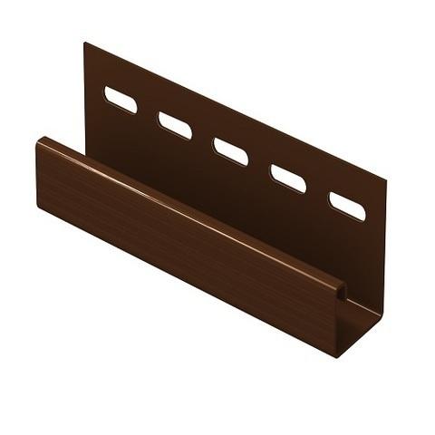 Ю пласт J-профиль коричневый 3 м