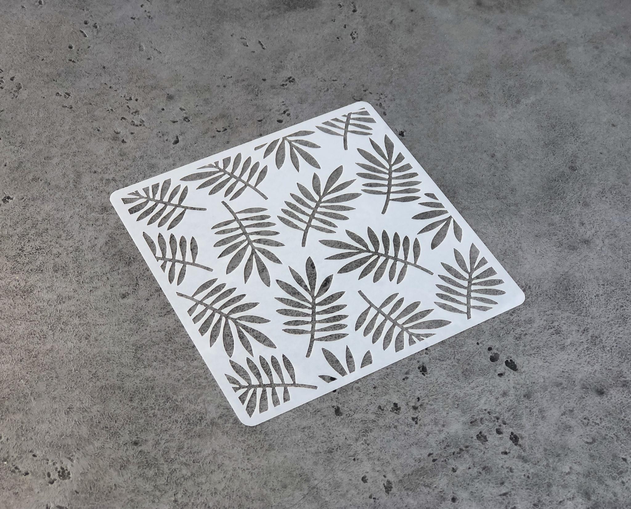 Трафарет пластик «Листья пальмы», 13х13 см