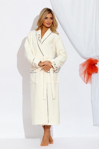 Длинный махровый халат Caramele