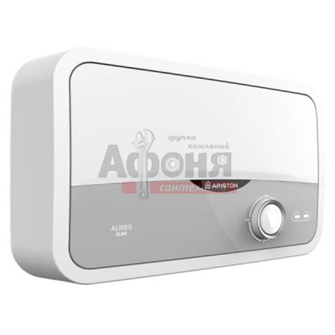 Водонагреватель проточного типа AURES S 3.5 COM PL ARISTON душ/излив (настенный,плоский)
