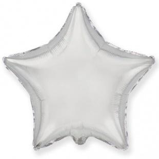 Фольгированный шар БОЛЬШАЯ ЗВЕЗДА, серебро