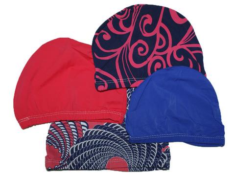 Шапочка для плавания тканевая. Безразмерная, подростковая. Вставка эргономично придает форму шапочке. Сочетание полиамида и эластомера делает ткань эластичной и прочной одновременно.Политэленовая упаковка. :(PU-H003):