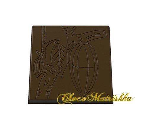 Форма поликарбонатная для шоколада - Мини-плитки Какао