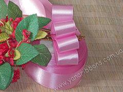 Лента атласная шириной 6мм розовая - 047