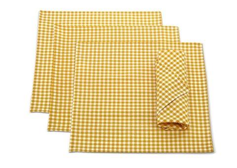Набор салфеток Кимберли желтый 4 шт.