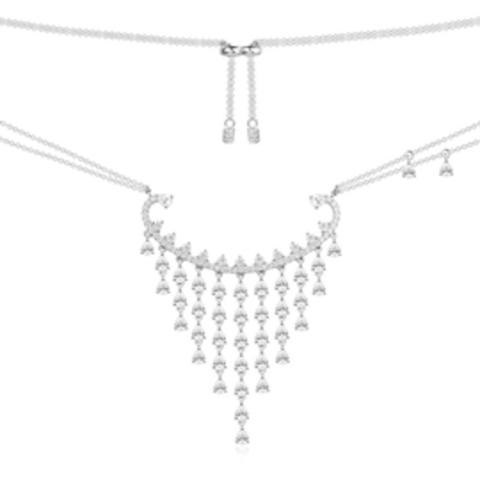 37924- Колье из серебра в стиле APM Monaco