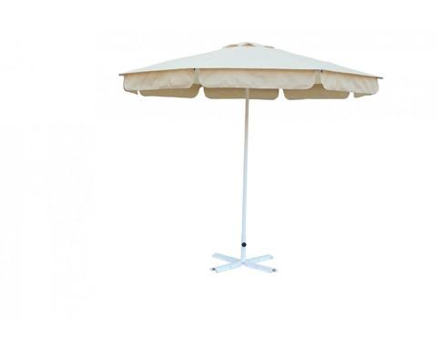 Зонт ø 2.5м.(8) Ал с пришитым воланом