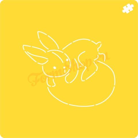 Кролик на яйце