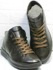 Стильные мужские ботинки кеды весна осень Ikoc 1770-5 B-Brown.