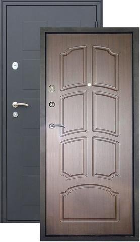 Дверь входная Обь стальная, венге, 2 замка, фабрика Город Мастеров