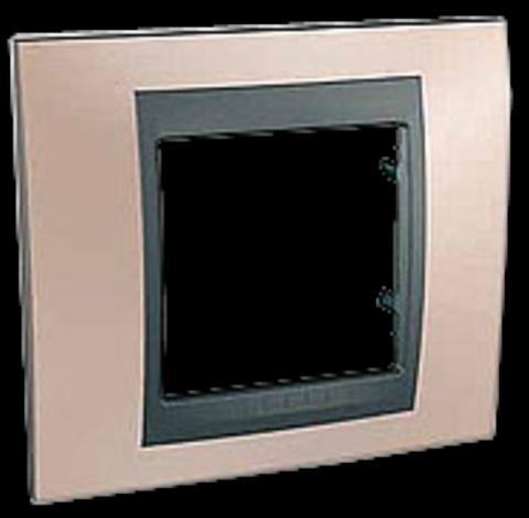 Рамка на 1 пост. Цвет Оникс-графит. Schneider electric Unica Top. MGU66.002.296