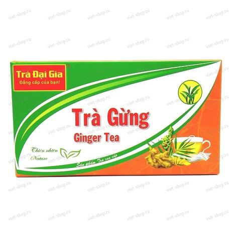Вьетнамский имбирный чай Tra Gung, 20 пак.