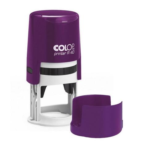 Оснастка для печати круглая Colop Printer R40 40 мм с крышкой фиолетовая