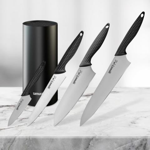 Набор из 4 ножей Samura Golf и и подставки KBF-101