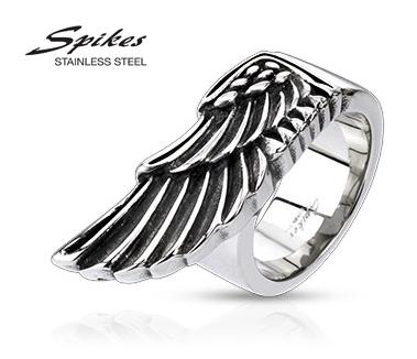 R-Q4013 Мужское кольцо с крылом из ювелирной стали, «Spikes»