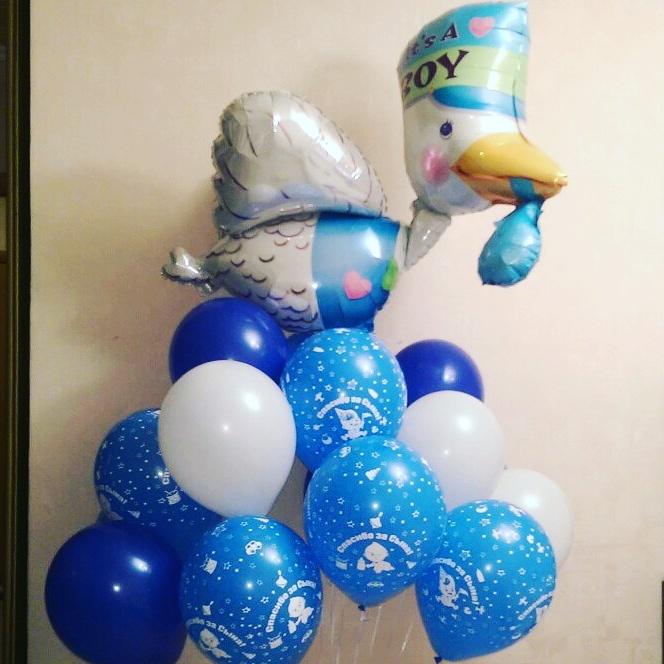 Шар Аист голубой (фото 2)