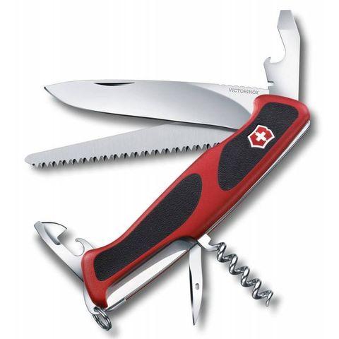 Нож перочинный Victorinox RangerGrip 55 (0.9563.CB1) 130мм 12функций красный/черный в блистере