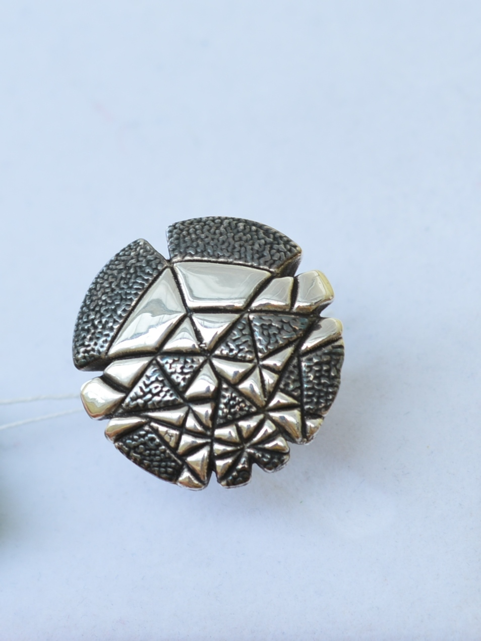 Мозаика-круг (кольцо из серебра)