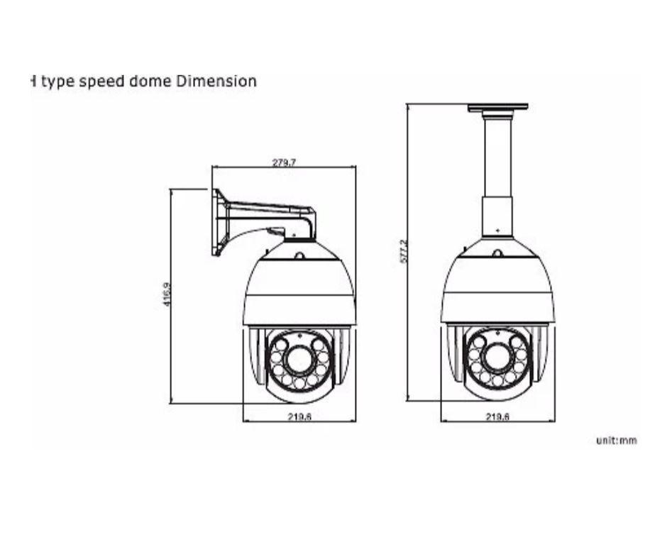 CAICO TECH 2518 FY-D PTZ  скоростная IPC камера ZOOM  18X 1/3 SONY 322 +3516C Low