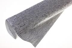 Бумага гофрированная металлизированная серебро (802). 50см/250см