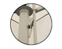 Зонт Митек 4,0х4,0 м с воланом (телескопический, тросовый, стальной каркас с подставкой, стойка 76 и 70мм, 4 спицы с усилителем 25х25мм, тент OXF 300D)