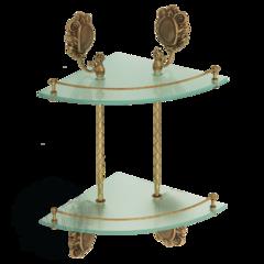 Полка с галереей угловая двойная  Migliore Cleopatra ML.CLE-60.762