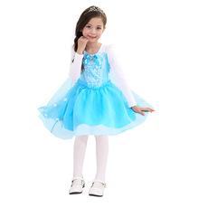 Платье Эльзы с короткой юбкой и снежинками