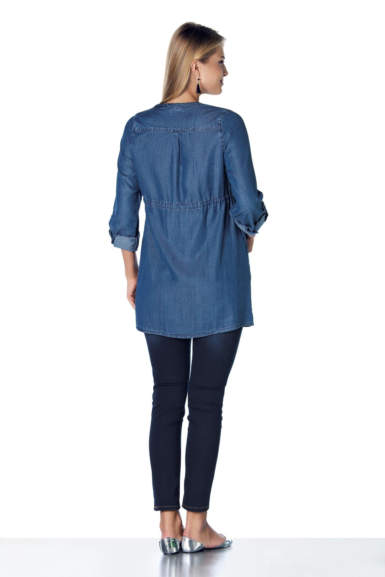 Блузка для беременных 07898 синий