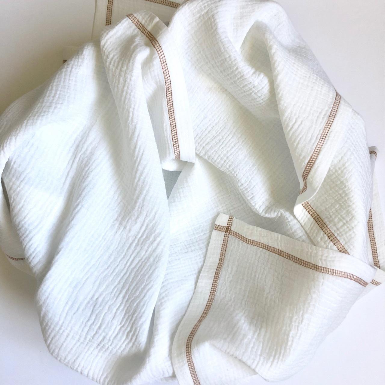 Плед-пелёнка Mjölk Cream из муслинового хлопка