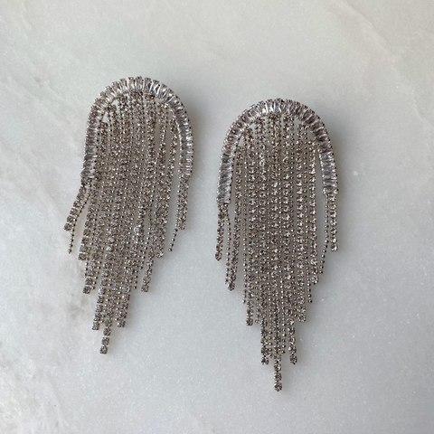 Серьги Лаура, серебряный цвет