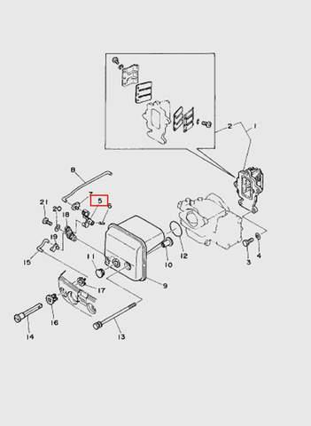 Рукоятка подсоса  для лодочного мотора T15, OTH 9,9 SEA-PRO (4-5)