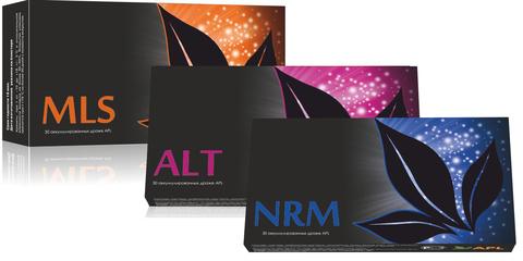 APL. Стартовый набор аккумулированных драже APLGO. MLS+ALT+NRM для очищения организма, нормализации уровня сахара