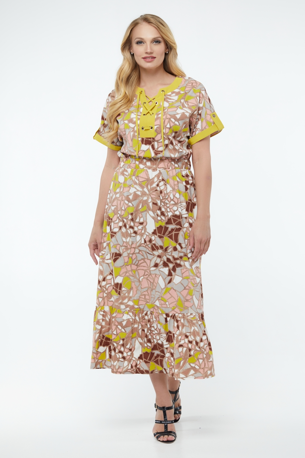 Платье Юджина (горчица )