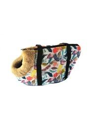 Сумка-переноска для собак с меховой отделкой Листья
