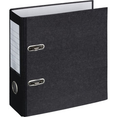 Папка-регистратор Attache формат А5 75 мм мрамор черная